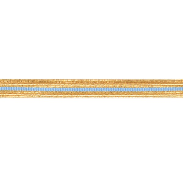 14mm – Gold 213 - Sky Blue – Cotton - Metalised Polyester – Composite Lace