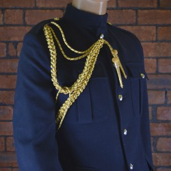 Royal Navy Board Type Gold and Navy Fleck Aiguillette - Right Shoulder