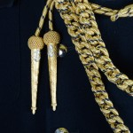Naval Attaché - Royal Navy Staff Type Gold and Navy Fleck Aiguillette - Left Shoulder