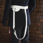Large - White Sword Belt with Slings - Royal Marines Band Service (RMBS)
