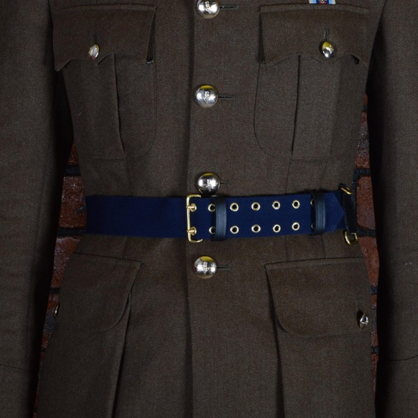 Large Blue Ceremonial Sword Belt - British Army Officers, Royal Air Force, Royal Navy