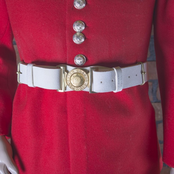 Band of Soldiers, Brigade of Guards Waist Belt Buff No 8 - Size 2 - British Army