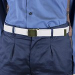 Large White Polypropylene Waist Belt - Royal Navy