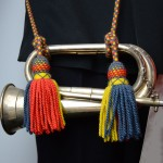 Royal Marines Band Service (RMBS) and Army Bands - Tri-Colour Bugle Cord
