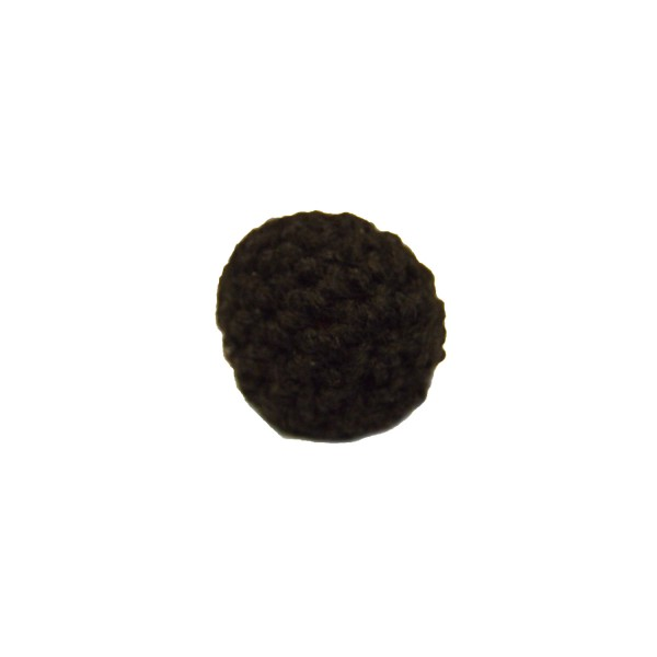 Black Crochet Covered Button