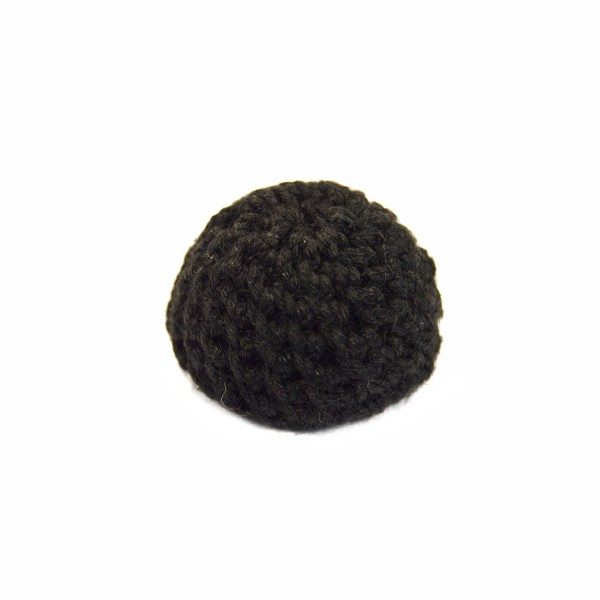 Large Bosses Black Worsted Button
