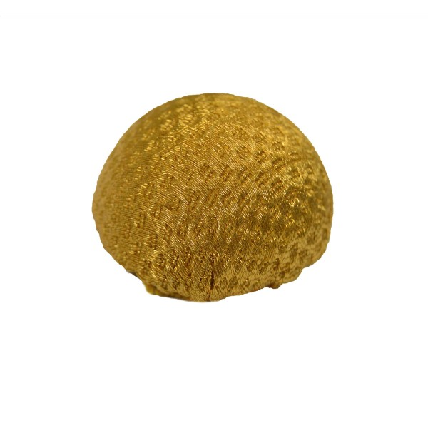 Large Bosses Gold Metallised Polyester Button