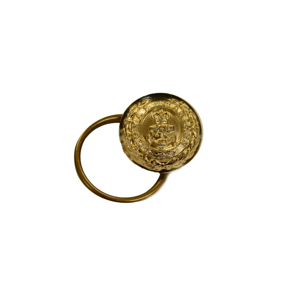 Royal Marines Flag Officer Gold Metal Button with Split Ring