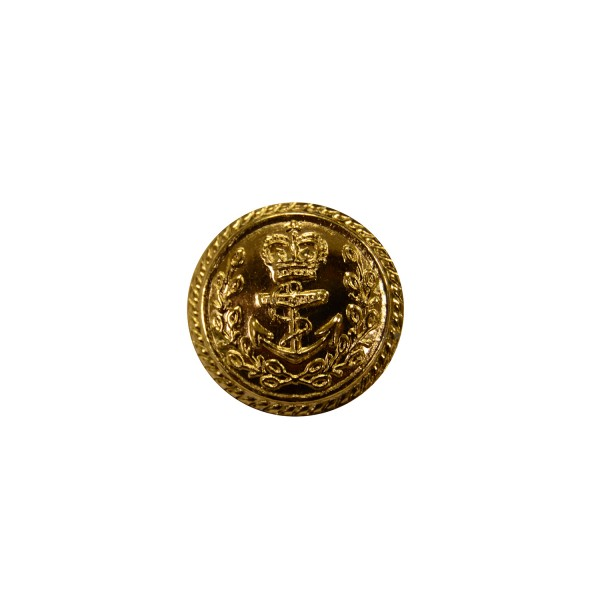 Royal Navy Flag Officer Gold Metal Button