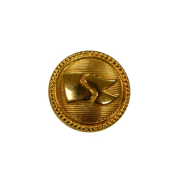 Saga Shipping Gold Metal Button
