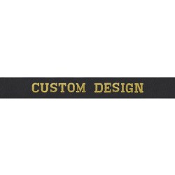 Single Design Only - Custom Cap Tally - Royal Navy