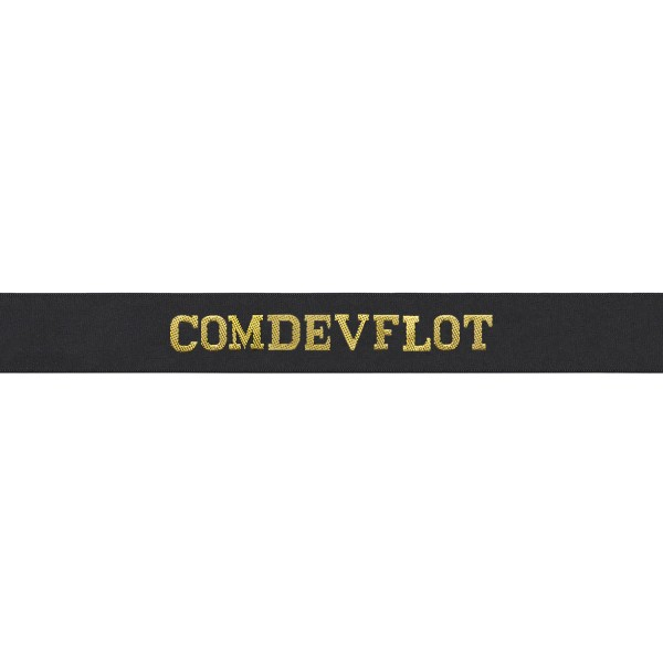 Commander Devonport Flotilla Cap Tally - Comdevflot Cap Tally - Royal Navy