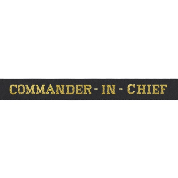 Commander In Chief Cap Tally - Royal Navy