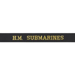H.M. Submarines Cap Tally - Royal Navy