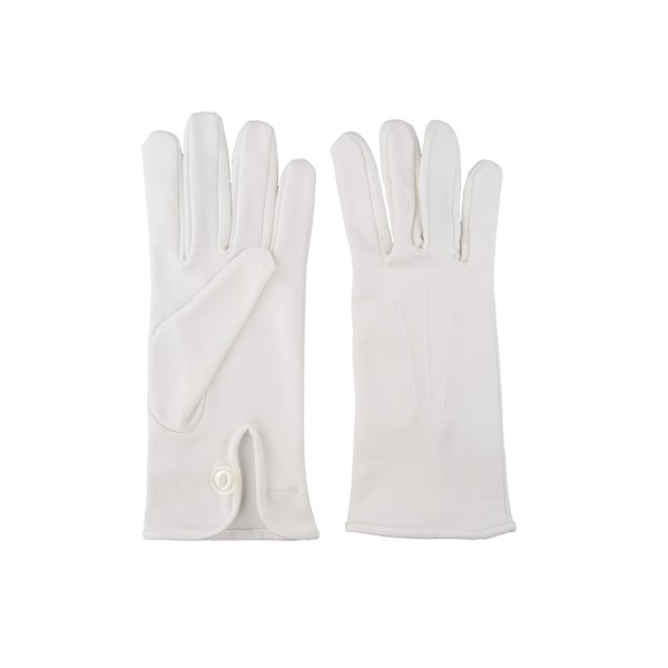 Small Parade Gloves - White Cotton