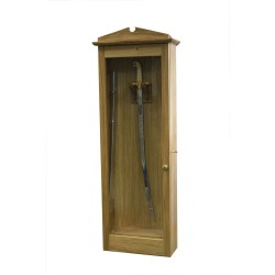 Wooden Sword Display Cabinet - Lockable
