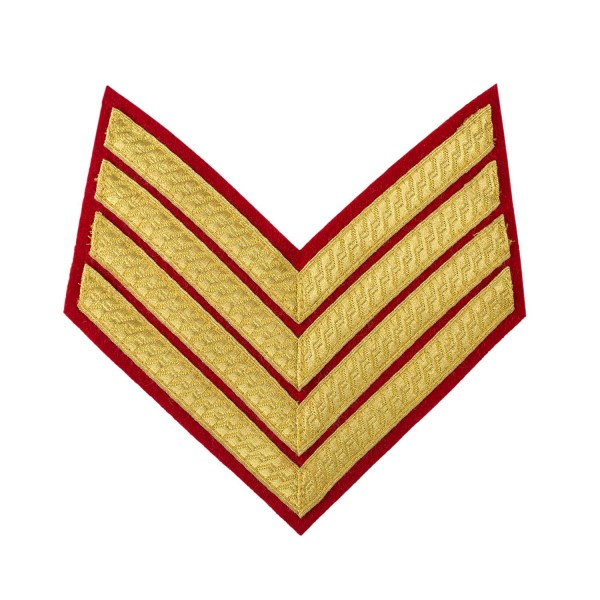 4 Bar Chevrons Drum Major – Service Stripe - Royal Marines and Army Badge