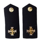 Chaplain (CHAPS) /Padre - Shoulder Board - Rank Insignia - Epaulette - Royal Navy Badge