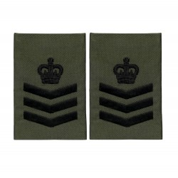 Royal Marines Colour Sergeant - Slider Epaulette - Royal Navy Badge