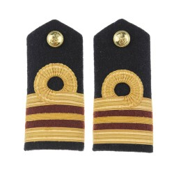 Surgeon Lieutenant Commander (D) - Shoulder Board Epaulette - Royal Navy Officers Badge