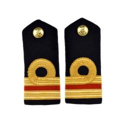 Surgeon Lieutenant Commander (M) - Shoulder Board Epaulette - Royal Navy Officers Badge