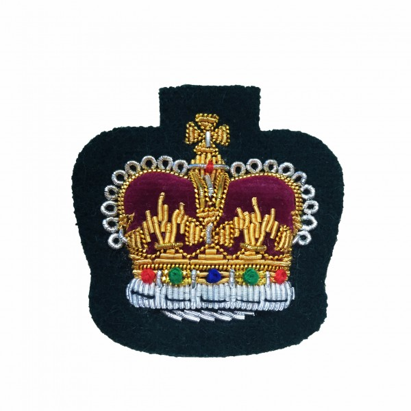 Colour Sergeant (CSgt) Rank Crown - Royal Marines (RM) - Royal Navy Badge