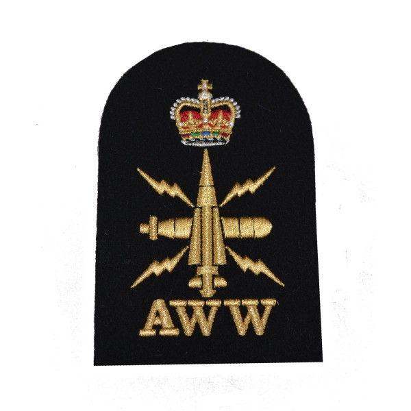 Above Water Weapons (AWW) - Petty Officer - Royal Navy Badges