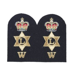Logistics Writer (W) - Chief Petty Officer (CPO) - Royal Navy Badges