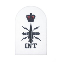 Chief Petty Officer (CPO) Intelligence (INT) Royal Navy Warfare Branch - Qualification Badge