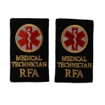 Medical Technician (MT) - Slider Epaulette - Royal Fleet Auxilary - Royal Navy Badge