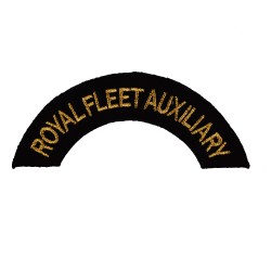 Royal Fleet Auxiliary – Shoulder Title Flash - Royal Navy Badge