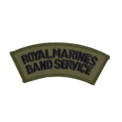 Royal Marines Band Service (RMBS) - Shoulder Title - Royal Navy Badge