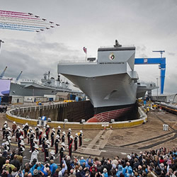 When is the HMS Queen Elizabeth launch?