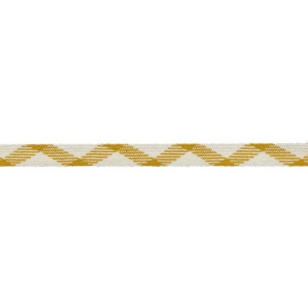16mm – Gold with Mustard Ecru – Worsted – Flat Braid