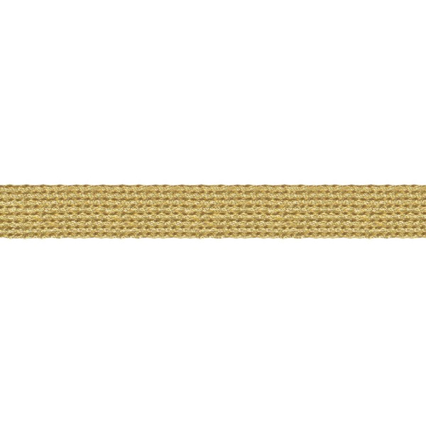 15mm – Gold – Metallised Polyester – Flat Braid