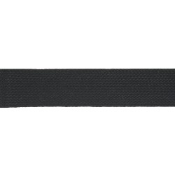 25mm Black Cotton Hercules Flat Braid