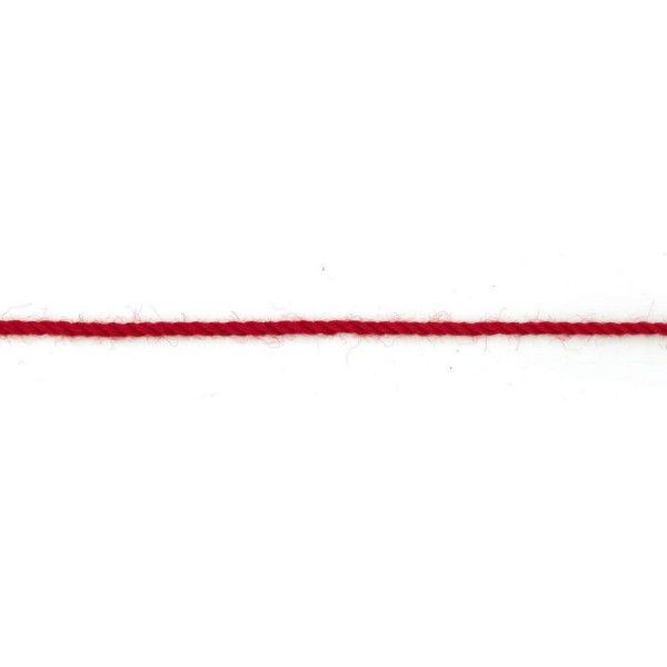 3mm – Scarlet – Worsted – Braided Cord