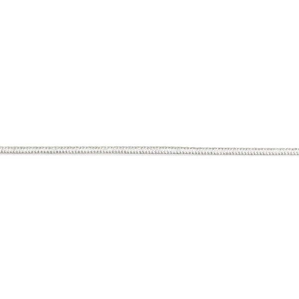 3mm – Silver – Metallised Polyester – Braided Cord