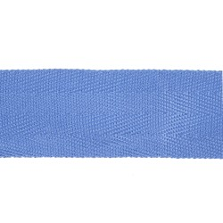 38mm WRENS Blue Cotton Herrigbone Lace