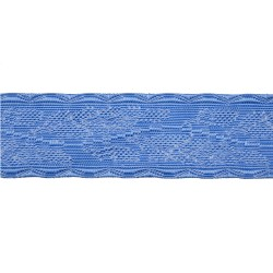 38mm Blue Viscose Oakleaf Lace