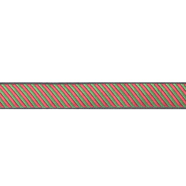 18mm – Red - Green – Nylon – Ribbon