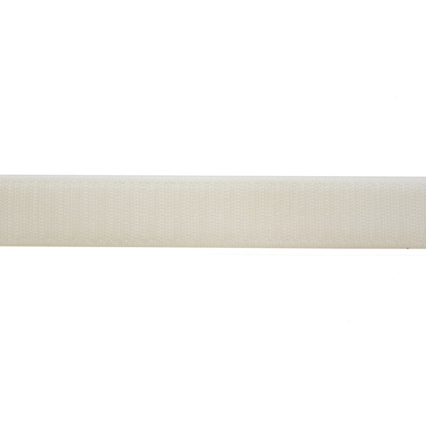 20mm White Tac-Flex Polyester Velcro - Hook