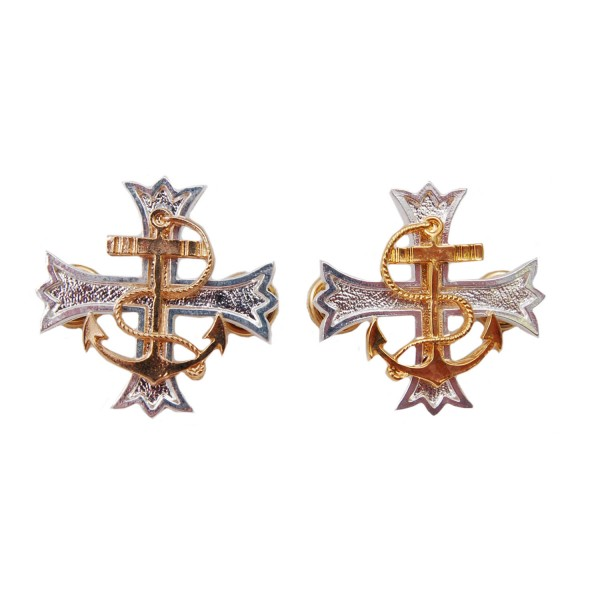 Chaplain Padre Silver/Gold Metal Badge Fittings