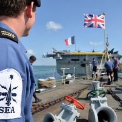 HMS Kent enters the port of Djibouti as part of the Combined Task Force
