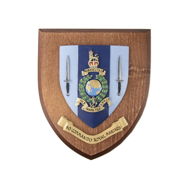 40 CDO RM - 40 Commando Royal Marines - Unit Badge / Crest / Plaque