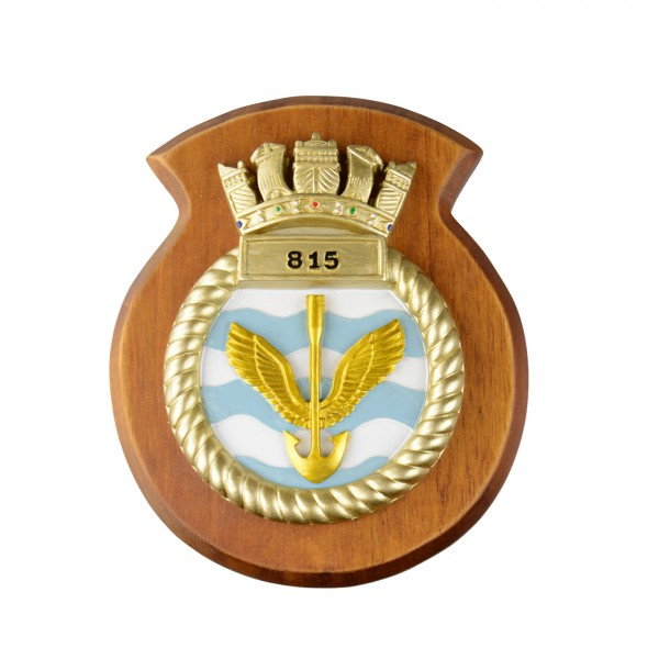 815 NAS - 815 Naval Air Squadron - Unit Badge / Crest / Plaque