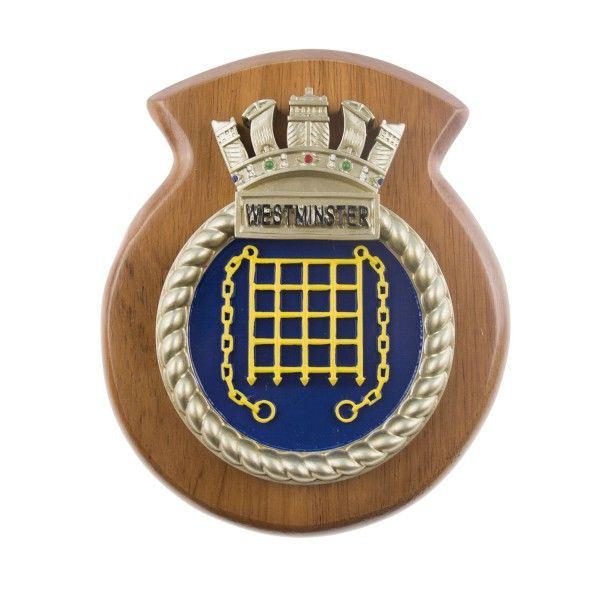 HMS Westminster - Ship Crest / Plaque / Badge