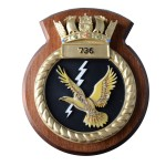 736 NAS - 736 Naval Air Squadron - Unit Badge / Crest / Plaque