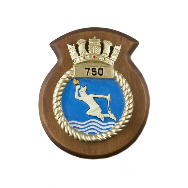 750 NAS - 750 Naval Air Squadron - Unit Badge / Crest / Plaque