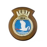 824 NAS - 824 Naval Air Squadron - Unit Badge / Crest / Plaque